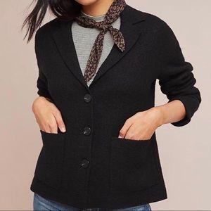 Anthropologie Moth Sandy Sweater Wool Jacket